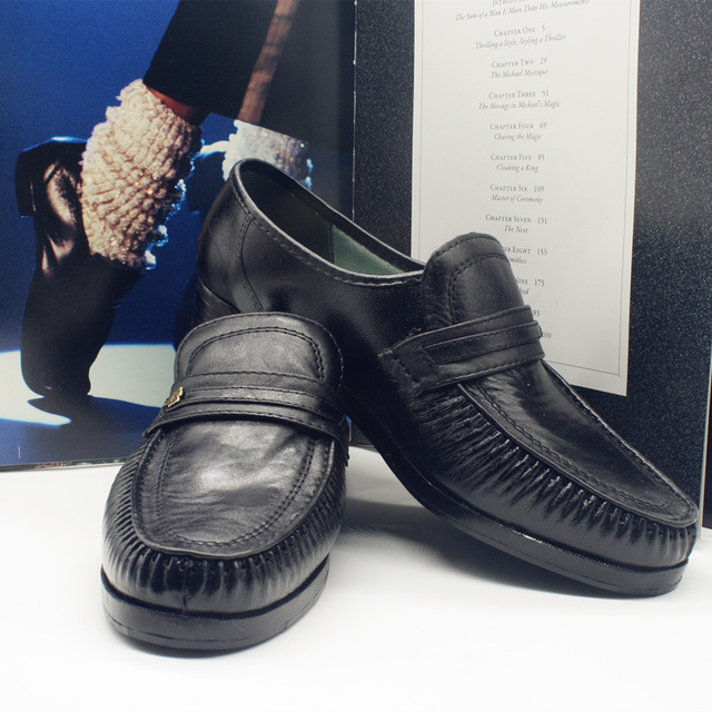 MJ Michael Jackson Classic Collection Easy Moonwalk Dancing Punk Leather  shoes Party Hallowmas Gift b341d9d59