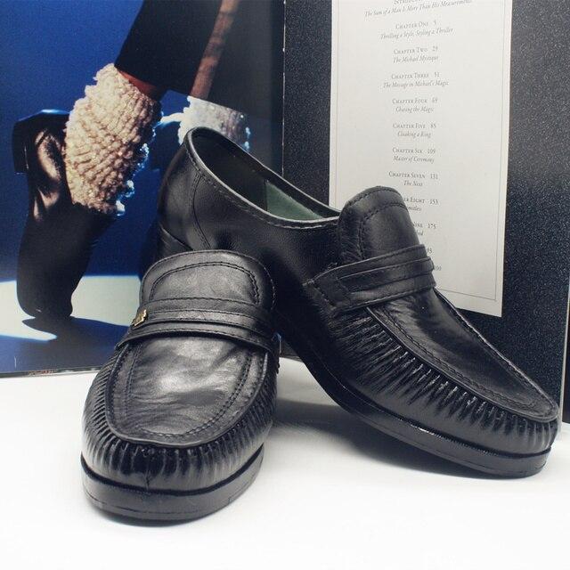 46de4cfa83d MJ Michael Jackson colección clásica Easy Moonwalk baile Punk zapatos de  cuero fiesta Hallowmas regalo