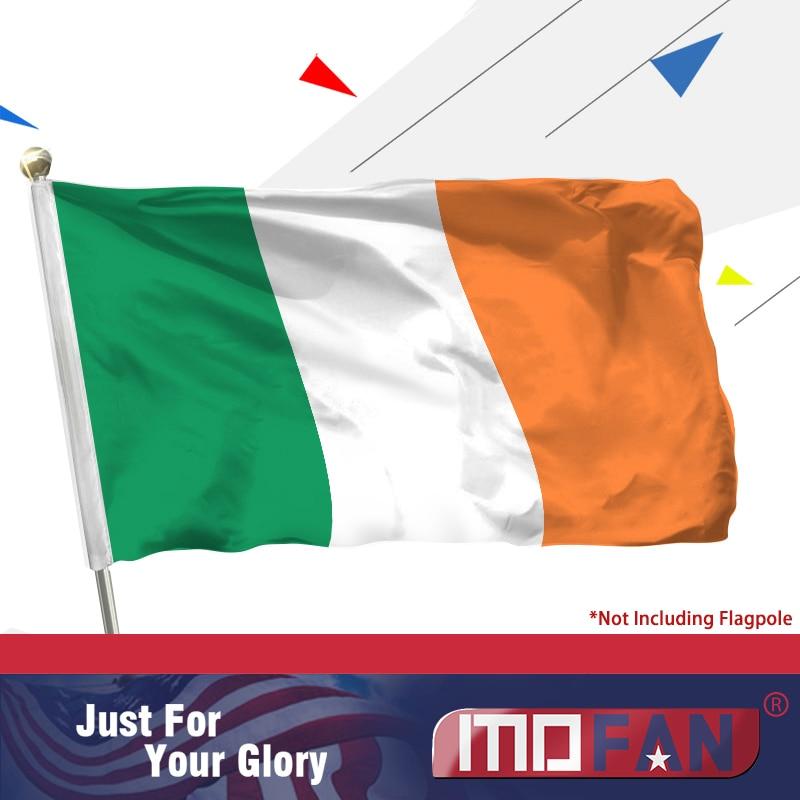 Vlajka Irska Irsko - živá barva a odolnost vůči UV záření - Irská vlajka Irsko Polyesterová vlajka 3x5 Ft