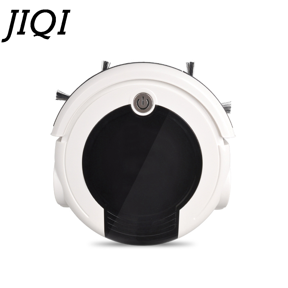 все цены на JIQI Robot Vacuum Cleaner Automatic Sweeping Dust Catcher Rechargeable Smart Aspirator Planned Type Washing Mopping Sweeper EU онлайн