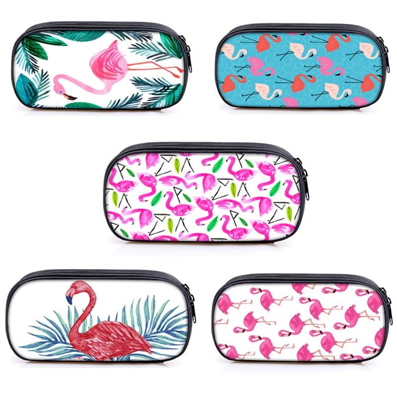 Cartoon animal Flamingo Pencil case kawaii dog cat large capacity pencil bag Kalem Kutusu gift stationery Penalty estuches 3006