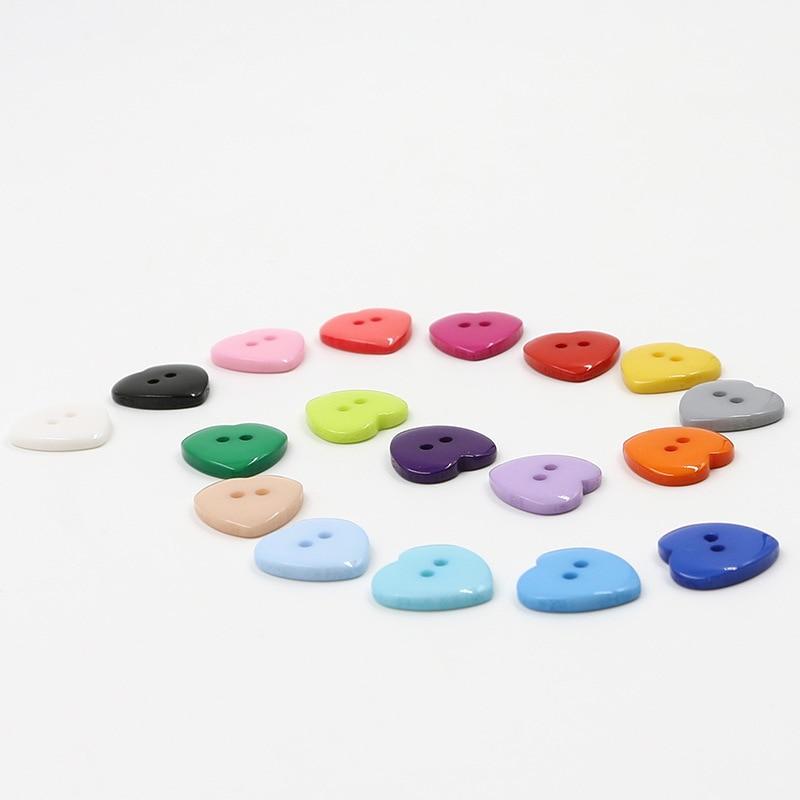 Красивые 1 лот = 100 шт полимерные кнопки в форме сердца 2 отверстия пластиковые кнопки Швейные аксессуары для одежды DIY для детской одежды кнопка мешок