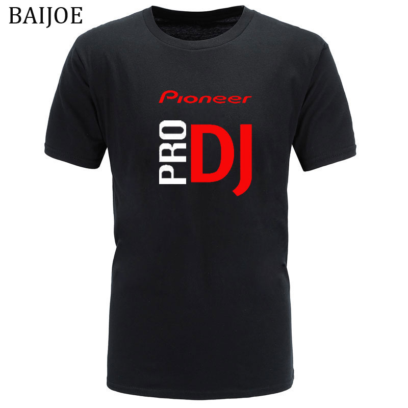 BAIJOE 2018 DJ style Pioneer O-NECK T-shirt Men new summer fashion tshirt for Pioneer DJ PRO T Shirt Men Tees(China)