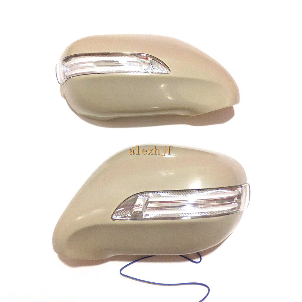 Led Rear View Mirror Lights With Cover Drl Yellow Turn