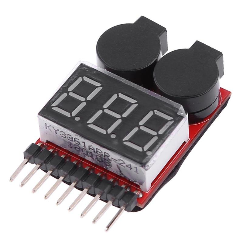 1-8S Lipo/Li-ion Battery Voltage LED Indicator Low Voltage Measure Meter Alarm Buzzer Use for 1-8S Lipo/Li-ion Battery Detection vm006 1 6s lipo battery accurate battery voltage meter lcd liquid crystal display alarm