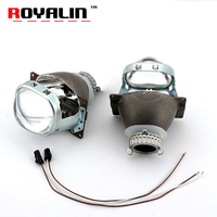 ROYALIN H4 Car Styling Square Bi Xenon Projector Lens Mini D2S 3.0 Headlight Lens For Auto Lamp D2S D2H HID Bulbs Retrofits DIY