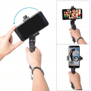 Image 2 - Mini Smartphone Hand Grip Holder Mobile Phone Stabilizer Clip Selfie Stick Clamp Adapter for iPhone 11 XS MAX XR Samsung S10
