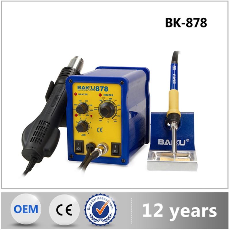 BK-878 dois em um display digital de ferro de solda, ferramenta de reparo de Taiwan mesa de soldagem de peças de reposição