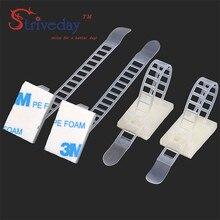10 шт. регулируемые Кабельные зажимы аксессуары для проводов крепления для галстука Защита окружающей среды винтовые отверстия клей Beamline Галстуки CL-2