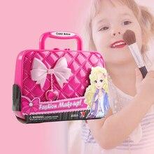 Хранение теней для век Tote сумки детские губные помады макияж наборы Косметика игрушка для детей производительность нетоксичные сценические моющиеся кисти безопасный