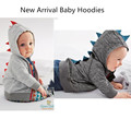 2015 New Autumn retail Fashion 6-24m baby hoodies 1piece baby clothing dinosaur animal baby boy sweatshirt baby coat
