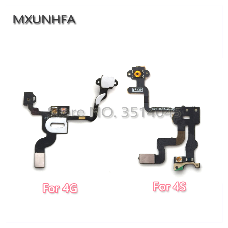 Fashion Style Mxunhfa Power Switch On Mobile Phone Flex Cables Off Button Flex Cable For Iphone 4 4g 4s Replacement Parts Aromatic Flavor