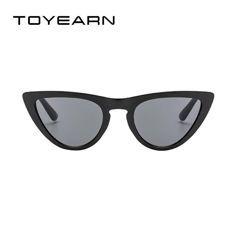 TOYEARN Senhoras Da Moda Bonito Sexy Olho de Gato Óculos De Sol Das Mulheres  Designer de Marca Do Vintage Pequeno Vermelho Preto UV400 óculos de Sol  Óculos ... c89cdd94eb