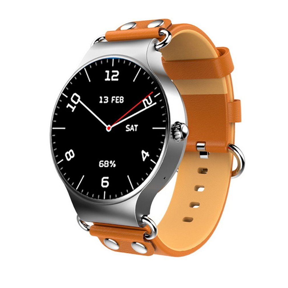 Faahion Smart Watch Bluetooth 3G with WIFI Leather Strap Android System Smart Watch Wristband Watch for