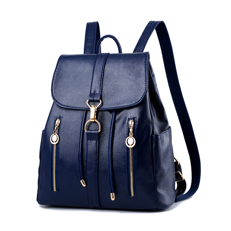Classic Fashion New 2017 Fashion Women Backpack Quality Leather Lady Bag Girl's backpacks Casual Luxury Large Capacity Soft women s classic backpack
