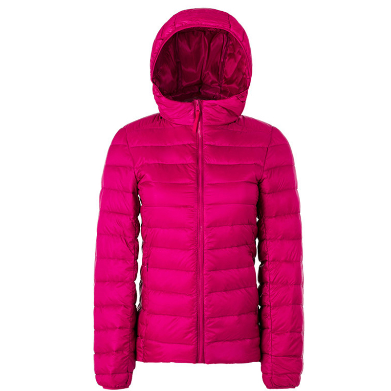 Winter Women Ultra Light   Down   Jacket Duck   Down   Hooded Jackets Long Sleeve Warm Slim   Coat   Parka Female Solid Portabl Outwear