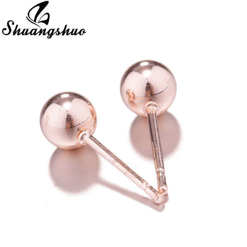 Shuangshuo Fashion Stainless Steel Earrings Statement Earrings 2018 Ball Geometric Earrings For Women Earing Modern Jewelry