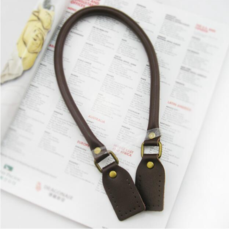 Cheap Sale 1 Pair 50cm Long Pu Leather Bag Handles For Women Bags Belts Shoulder Strap Diy Replacement Accessories High Quality Kz0001 Luggage & Bags