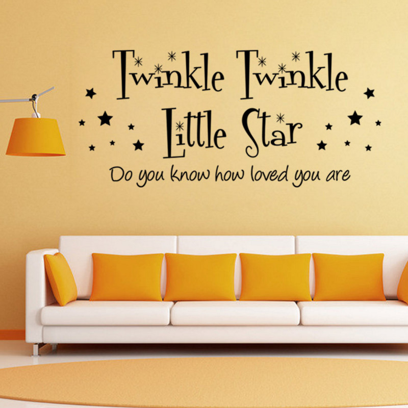 Twinkle Little Star Art Family Home Decor Creative Wall Decals ...