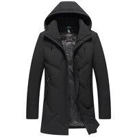 2019 Russia Winter Man Parkas Thicken Coats Zipper Men's Long Hooded Jacket Hat Detachable Outdoors 4XL 5XL 6XL 7XL 9815
