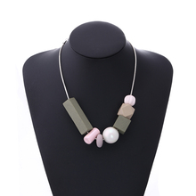 Match-Right Women Necklace Statement Necklaces & Pendants Geometric Wood Beads Necklace For Women Jewelry MX016