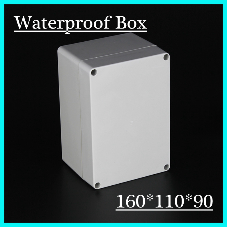 160mm x 110mm x 90mm Waterproof Plastic Enclosure Case DIY Junction Box 4pcs a lot diy plastic enclosure for electronic handheld led junction box abs housing control box waterproof case 238 134 50mm