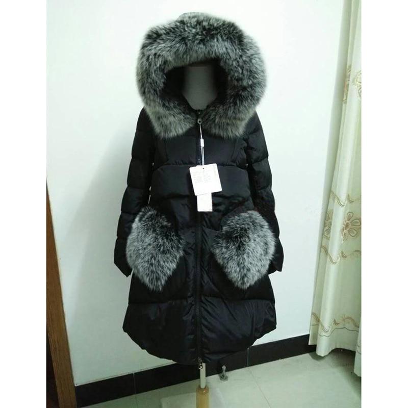 5XL Fox Fur Collar Women Caot 2018 New Winter   Coat   Women Duck   Down   Jacket Very Warm Winter Jacket Thickening Warm Women Parkas
