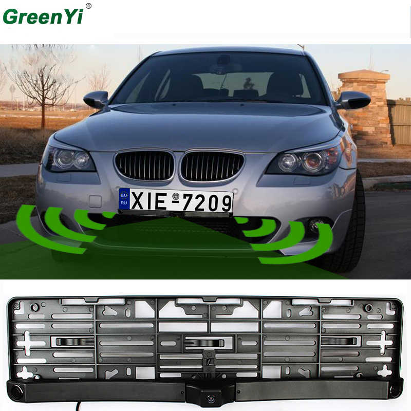 c6157d13740 Universal License Plate Frame Auto Front camera Car Rearview Reverse Camera  With Two Parking Sensors Reversing