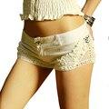 2016 Новый Летний Мода женские джинсы шорты Черный Белый Sexy кружева шорты дискотека джинсовые микро кружева под шорты крючком ренда
