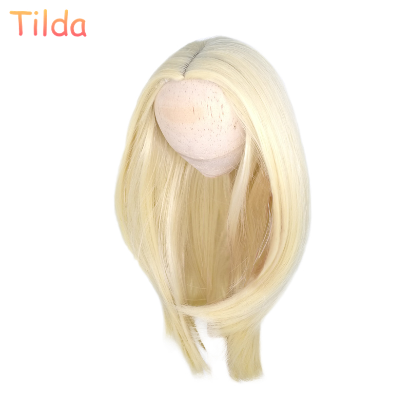Tilda 25 28cm Head Size Fashion Hair Wigs for Dolls Puppet High Temperature Doll Wig Hairs