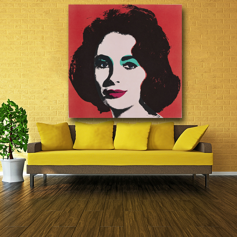 Nice Elizabeth Taylor Portrait Oil Painting By Famous Master Andy Warhol Fashion  Canvas Art Print For Wall Decoration No Frame In Painting U0026 Calligraphy  From ...