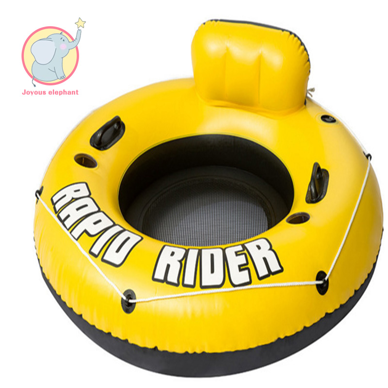 2018 inflatable floating row Round Swimming Ring Seat Boat Water Sports Safety float Water Fun pool toy for adults children