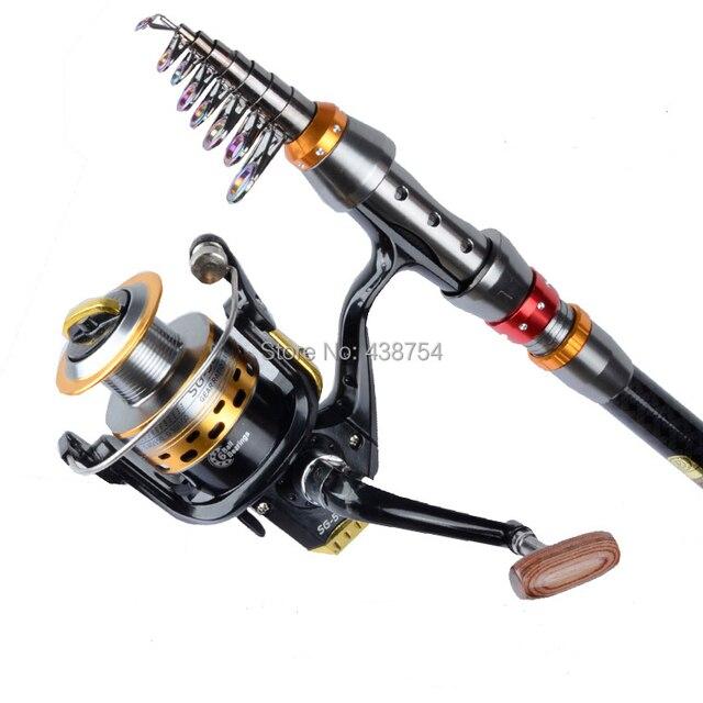 Carbon Fiber Telescopic Fishing Rod Portable Spinning Fishing Rod Pole Travel Sea Boat Rock Fishing Rod 2