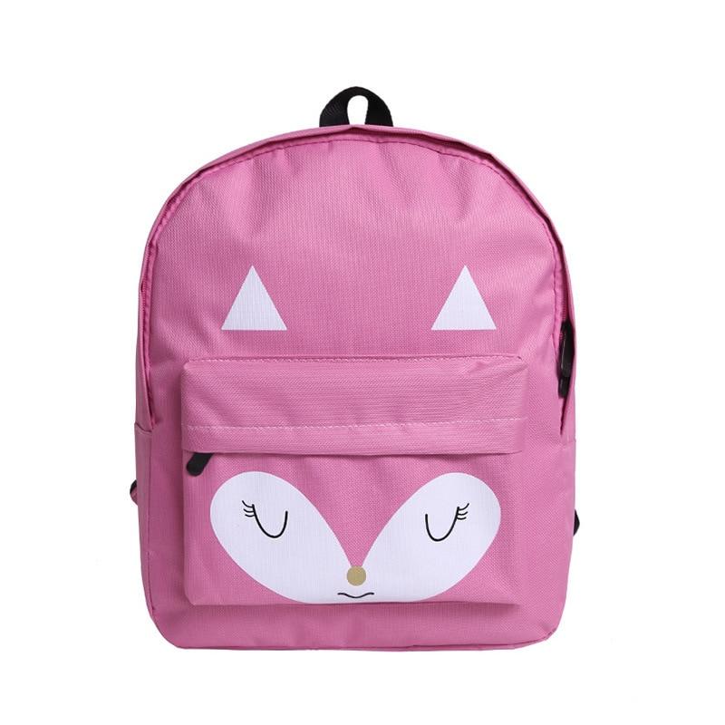 Nylon cute cartoon fox prints childrens school bag kids travel backpack mochila infantil escolar for teenagers girls boys