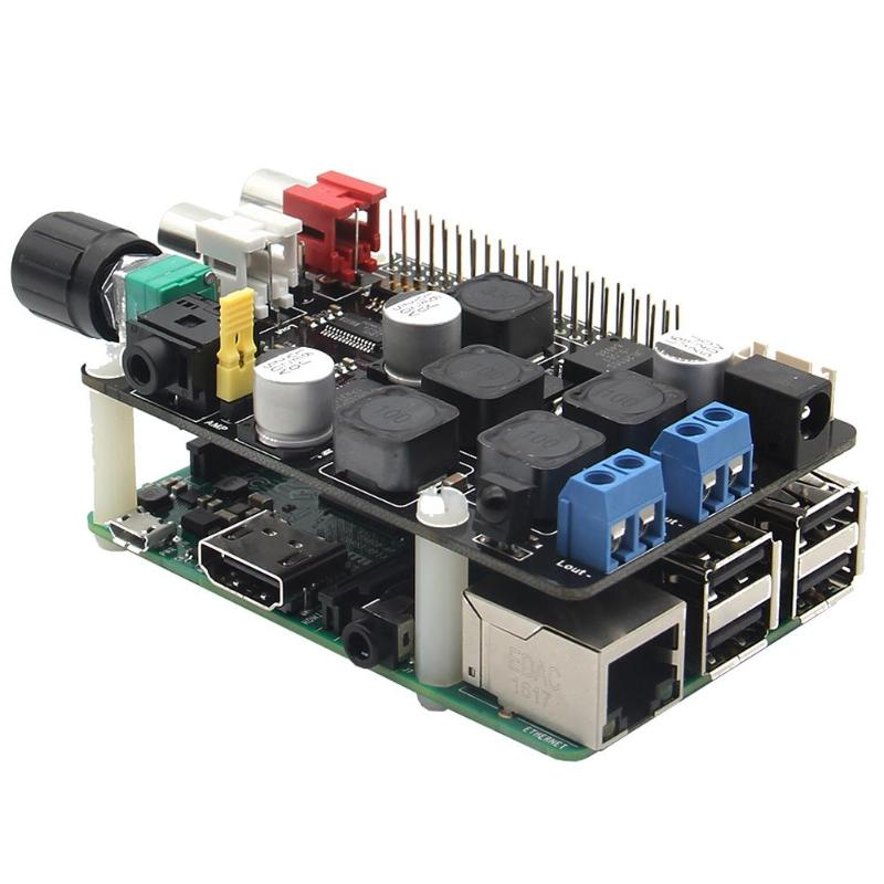 цена на X400 Full-HD Audio Expansion Board for Raspberry Pi 3 Model B/ Raspberry Pi 2 Model B/ B+ Expansion Board