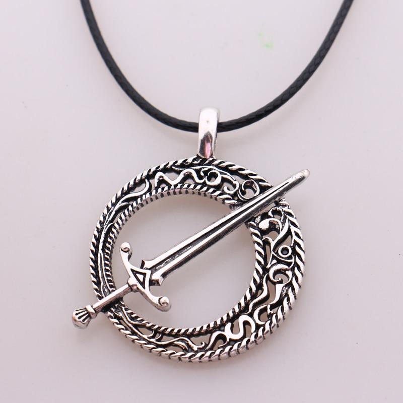 Dark Souls 3 лезвие черная луна кулон соглашение Dark Souls 3 ожерелье с кулоном в виде меча Кожаные Веревки игра стимпанк ювелирные изделия
