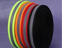 2*1cm vurgulamak yansıtıcı dokuma yansıtıcı uyarı bandı floresan reflektif şerit