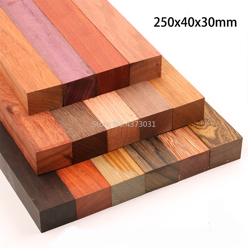 250x40x30mm DIY Knife handle material 15 kinds Wood material For DIY Wooden handicraft material|Tool Parts|   - AliExpress