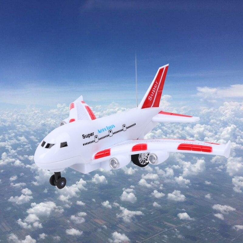 dc67989a5 طفل طائرة ايرباص الهواء حافلة الكهربائية لعبة تتحرك يبرق الأصوات ...