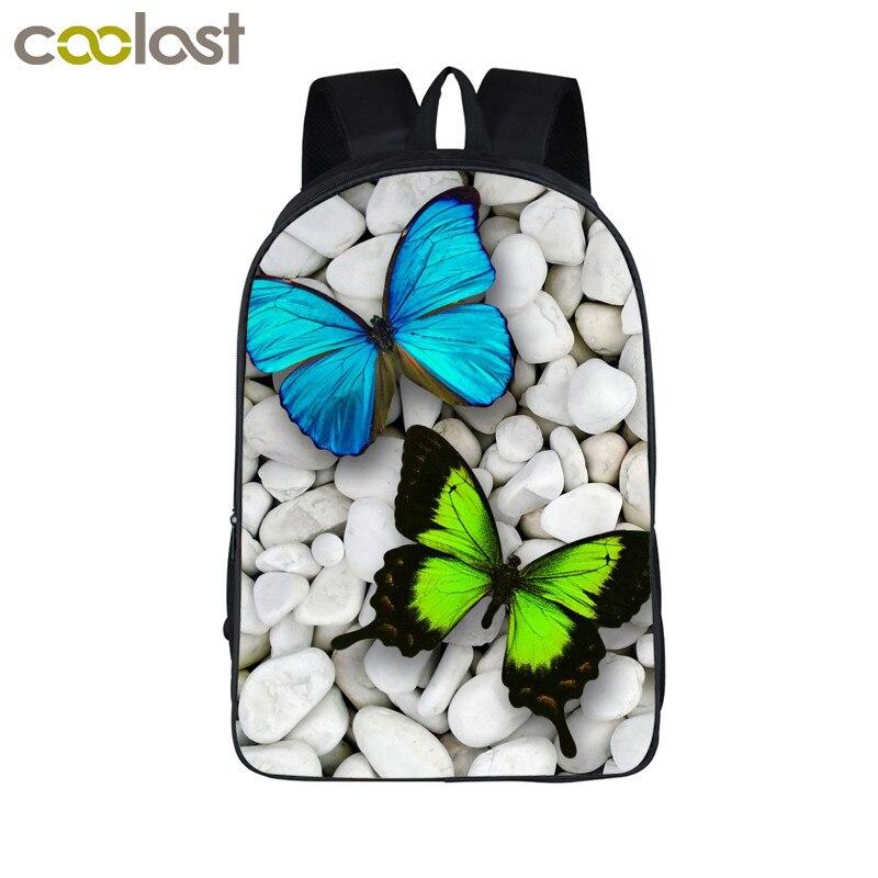 Butterfly Flower font b Backpack b font For Teenagers Girls Children School Bags Cartoon School font