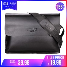 02b5976d4ed VICUNA POLO Leather Men Bag Business Casual Messenger Bag High Quality  Men's Brand Black/Brown