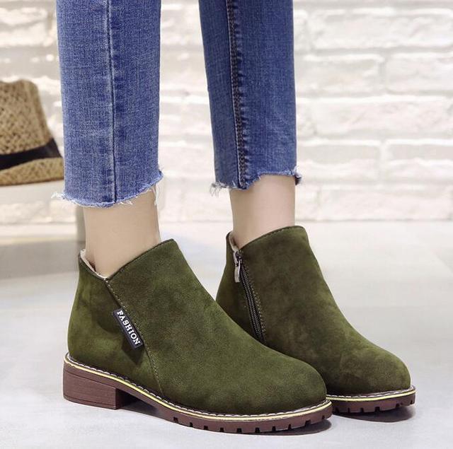 Autumn Winter women Boots Classic Zipper shoes snow boots 2