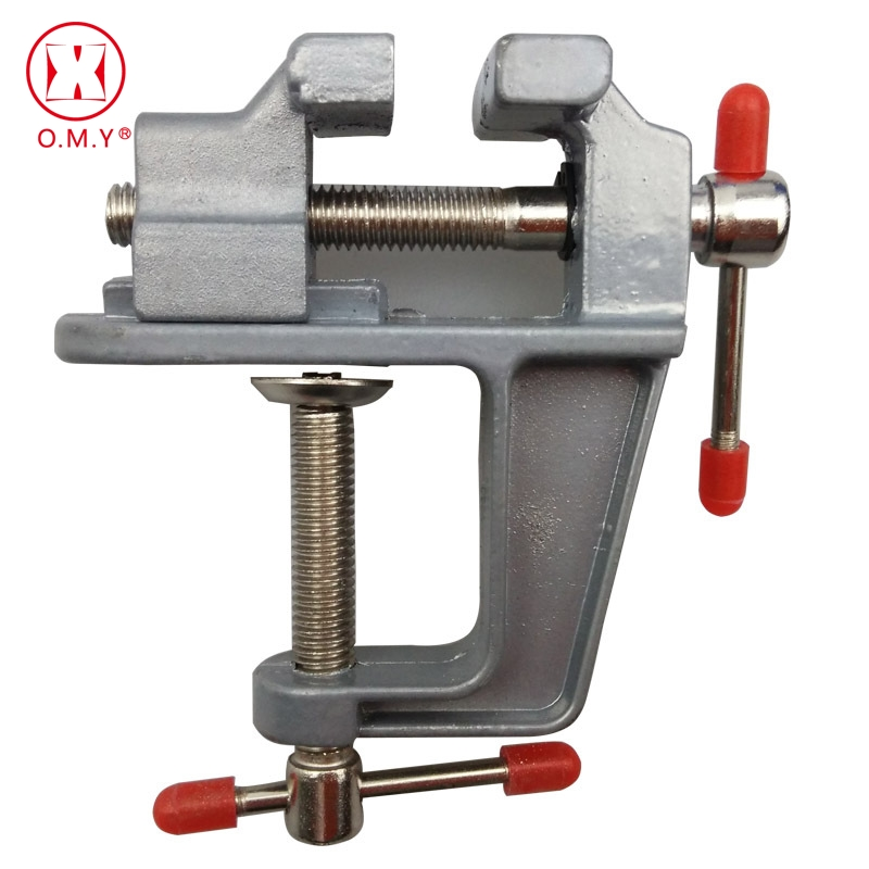OMY High Quality New Aluminum Small Jewelers Hobby Clamp On Table Bench Vise Mini Hand Tool Vice Hot цена