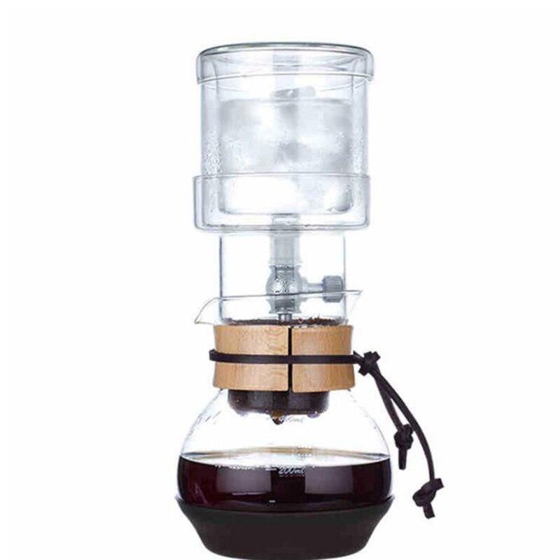 קפה זכוכית אחת שסתום percolators/400 ml קפה טפטוף קרח סירי סט כלים קפה ביתי