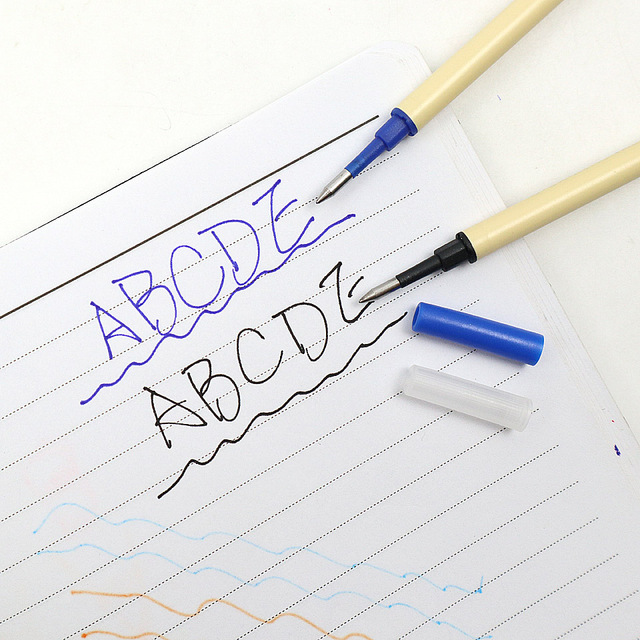6Pcs High Quality 0.5mm Nib Ballpoint Pen Refills 11cm Length Writing Point Blue Black Ink Ball Pen Refills Rods 2