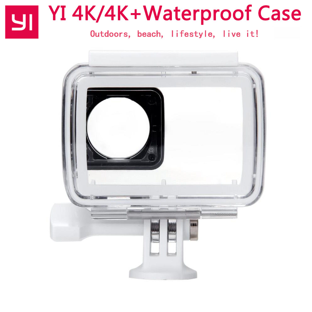 Original YI Waterproof Case For Xiaomi Yi Action camera 2/YI Discovery Action Camera/ YI 4K+ Action Camera Waterproof to 132'