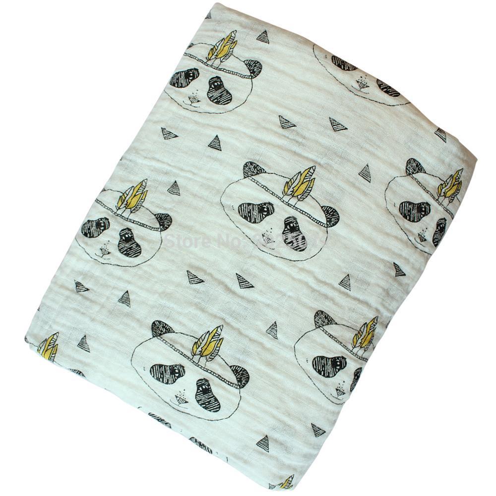 New Muslin Summer Infant Geometry Muslin baby Swaddle blanket Newborn Baby Bath Towel Swaddle Blankets Baby Blanket 110*110cm