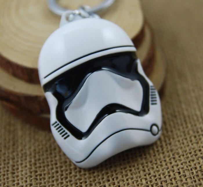 ca3ee11c1 1pc Star Wars Movie Key Chains Soldier Mask Holder Keyring Porte clef Gift  Men Women Souvenirs pendant toy Figures