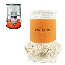 2017 superventas 75 * t2.5 * 190mm keroseno estufa mechas de fibra de vidrio de alta calidad + 100% calentadores de algodón Wick envío gratis