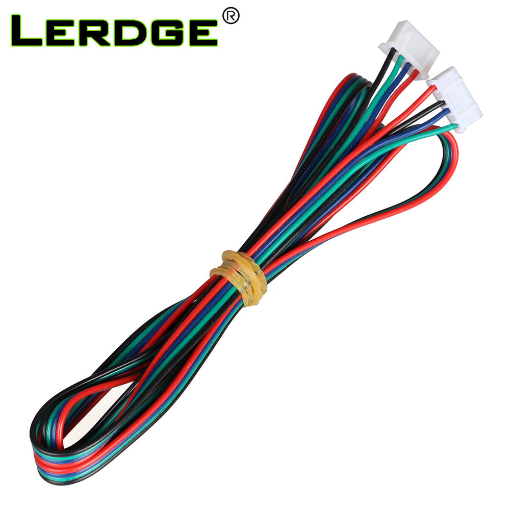 Lerdge 3D Printer Motor Cable Connector 4pcs/lot DuPont line XH2.54 4pin to XH2.0 6pin White Terminal 4pin Stepper Motor Cables